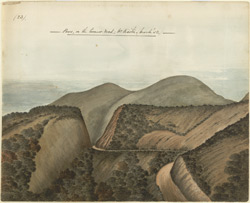 Road through pass, near Kaitee, Ootacamund.  March 1852